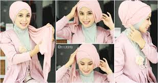 tutorial hijab paris ke pesta new tutorial hijab pashmina turban pesta