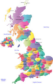 map of uk united kingdom county map counties and county towns