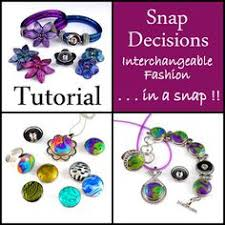 how to use snap jewelry components by shades of clay polymer