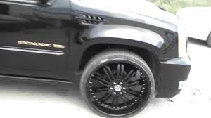 cadillac escalade with black rims 26 inch 2 crave no 11 gloss black luxury wheels rims 2011 cadillac