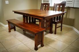 amish olde century mission trestle dining table