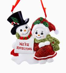 we re expecting family of 2 personalized ornament