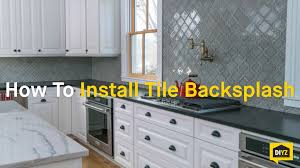 how to install tile backsplash youtube