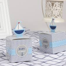 sailor baby shower decorations 12pcs baby on board pop up sailboat baby candy box blue