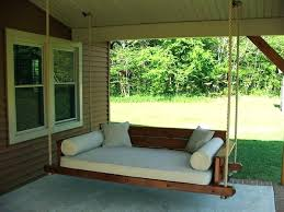 Swinging Bed Frame Daybed Porch Swing Bed Porch Swing Daybed Plans Cover Diy