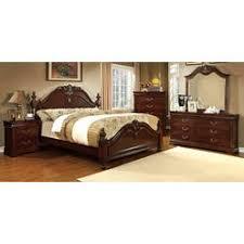 queen anne bedroom set queen anne style cherry finish wood vanity set