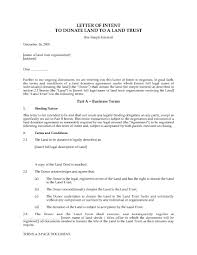 Letter Of Intent Real Estate Template letter of intent to donate land with fee simple interest legal