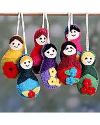 amazing deal on wool ornaments seven set of 7 india