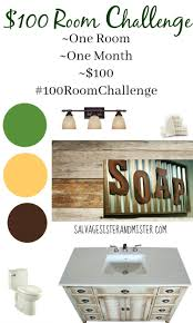 100 room challenge bathroom makeover salvage sister and mister