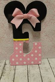 Decorated Letters For Nursery Minnie Mouse Inspired Decorative Letter Nursery Letter Decor