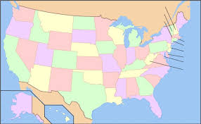 usa map with states 50 states of the usa quiz an
