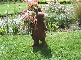 mr rabbit cast iron garden ornament ebay