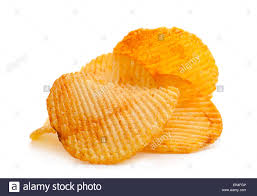 ripple chips potato ripple chips snack isolated on white stock photo 83078598
