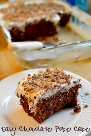 easy chocolate poke cake recipe toffee bits heath bars and