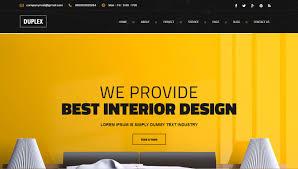 best interior design website templates