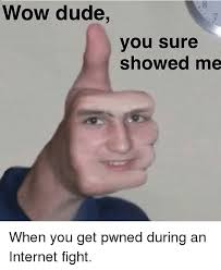 Dude Memes - wow dude you sure showed me when you get pwned during an internet
