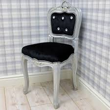 black velvet bedroom chair silver frame black velvet studded bedroom chair