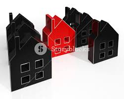 house icons show houses or buildings for sale royalty free stock