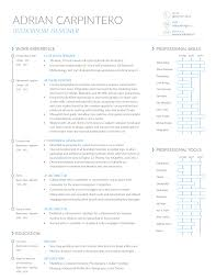 Ui Designer Resume Sample by Adrian Carpintero Ui Ux Designer