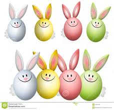 colourful easter egg bunny rabbits stock photography image 4026162