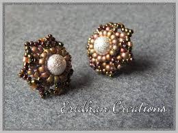 make stud earrings eridhan creations beading tutorials flower stud earrings free