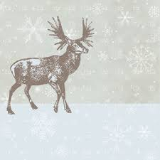 christmas deer christmas deer on winter background royalty free vector clip