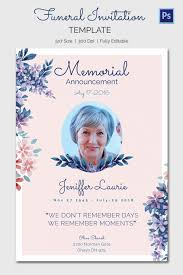 funeral service announcement wording memorial service announcement template
