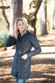 foxglove navy welligogs coat trench wax jacket fashion