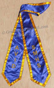 graduation stoles avid smhs graduation stole with trim