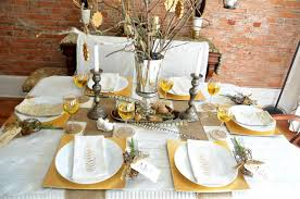 elements and metallic tablescape home stories a to z