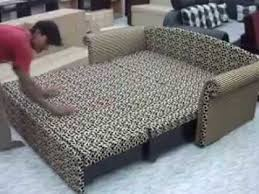 Double Bed Settee Sofa Bed 3 Youtube