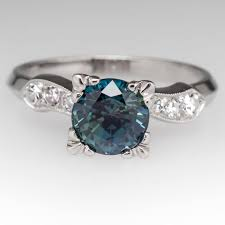 green engagement ring an of sapphire engagement rings fit for a mermaid