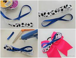how to make hair bows for how to make sports hair bows diy inspired