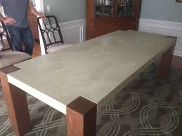 diy concrete dining table diy concrete table the solid concrete dining table for your outdoor