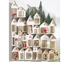 advent calendar glitter lit houses advent calendar pottery barn