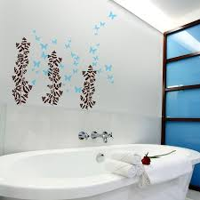 Bathroom Walls Ideas by Bathroom Fascinating Bathroom Wall Art With Cool Plant And