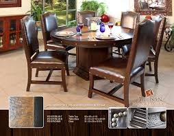 Copper Dining Room Tables Copper King 60 Inch Dining Table Ifd 1075tbl 60 Artisan Furniture