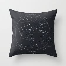 decorative pillows home goods star chart constellation throw pillow cover decorative pillow