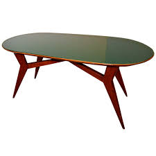mid century italian table with green glass by vittorio dassi at