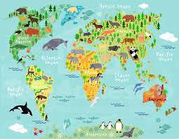 North America World Map by Children U0027s World Map 2