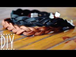 make leather woven bracelet images Diy braided leather bracelet jpg
