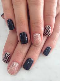 55 seasonal fall nail art designs black polish and black