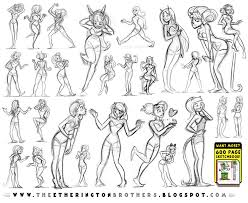 female character pose and gesture sheet 1 by studioblinktwice on