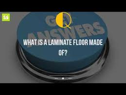 what is a laminate floor made of