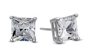 honey singh earrings white gold yo honey singh style inspired square cubic zircons stud
