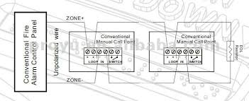conventional fire alarm system 2 wire manual call point manual