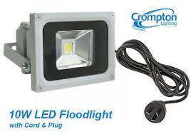 plug in outdoor flood light crompton 10w led outdoor security floodlight ip65 with cord plug