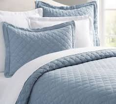 Light Blue Coverlet Blue Bedding Pottery Barn