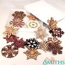 wooden laser cut snowflake ornaments 3 inch diameter