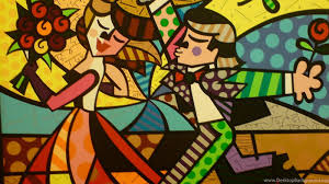 britto garden follow me romero britto wikipaintings org desktop background